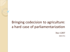 Codecision on Agriculture policy