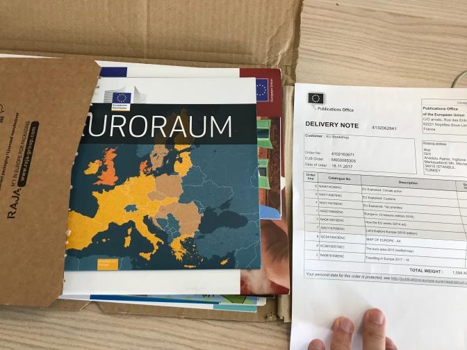 Avrupa Birliği dokümanları adresinize 'ücretsiz' gelsin