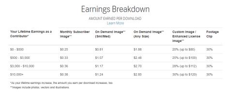 Shutterstock earn
